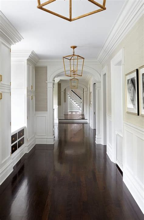 hallway with pecky cypress ceiling cottage entrance foyer dark stained pecky cypress plank ceiling with arched