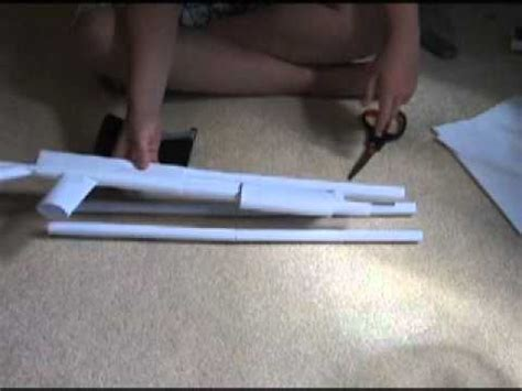How To Make A Paper Shotgun - how to make a paper shotgun part 1
