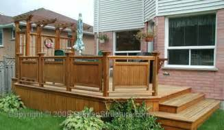 Small Decks With Pergolas by Small Deck Designs Home Gallery Wood And Composite