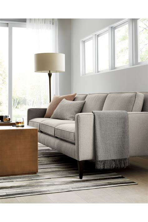 Crate And Barrel Rochelle Sofa by Rochelle Midcentury Modern Sofa Furniture Living Room