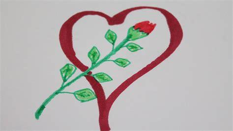 imagenes de corazones i flores dibujos de corazones con rosas youtube