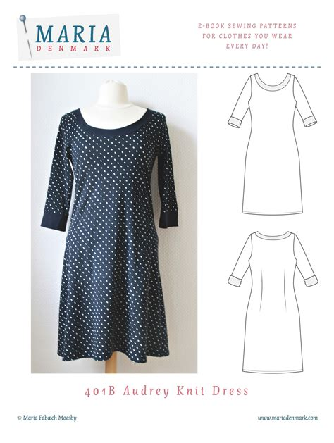 Clothes Pattern Store | 401 audrey knit dress mariadenmark sewing