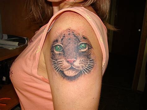 big cat tattoos big cat new simple cat tattoos design with
