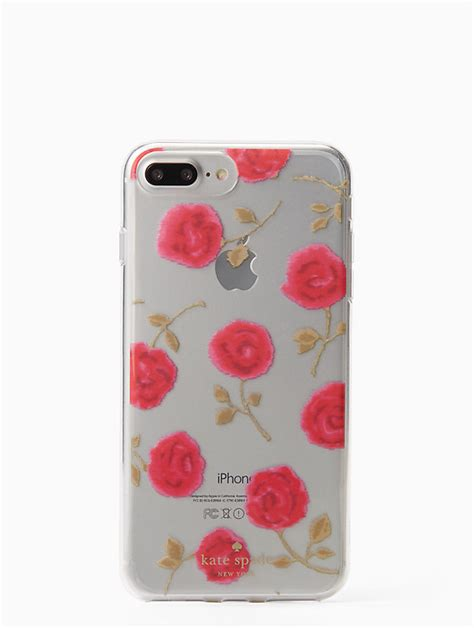 hazy rose clear iphone   case kate spade  york