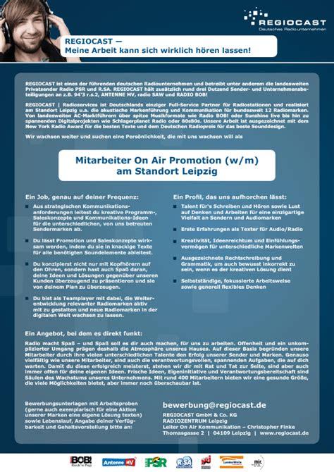 Bewerbung Gehaltsvorstellung Angabe Regiocast Sucht Mitarbeiter On Air Promotion W M Am