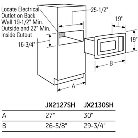 cabinet microwave dimensions microwave standard size bestmicrowave