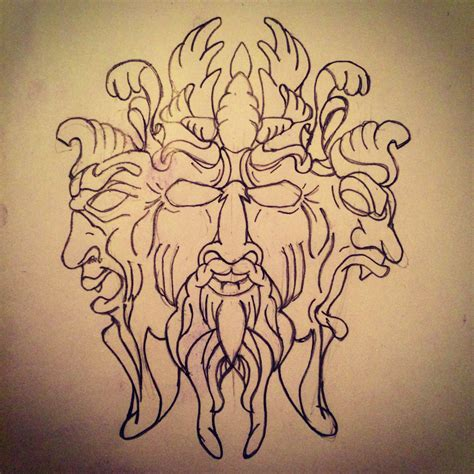 three faces of power sketch by ranz