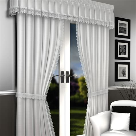 Lined Shower Curtains Uk white lined voile curtains lima lined voile curtains