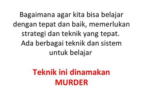 Strategi Dan Teknik Negosiasi teknik dan strategi belajar murder