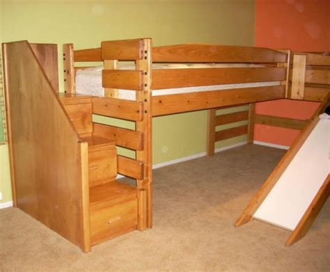 bunk beds with stairs and slide loft beds with stairs and slide daddy s next project for