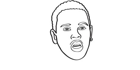A Coloring Book For Grown Ups Captures The Beautiful Chris Brown Coloring Pages
