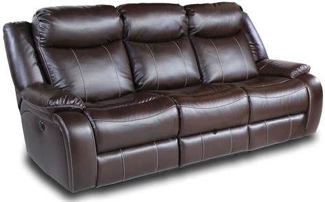 brown fabric recliner sofa genesis jamestown brown fabric power reclining sofa