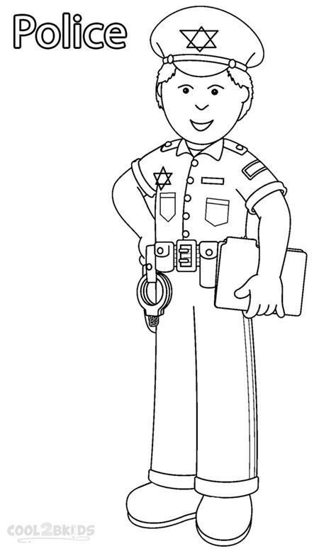 Printable Community Helper Coloring Pages For