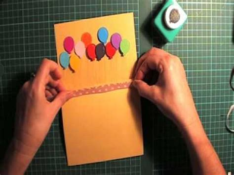 balloon pop up card template pop up balloon card