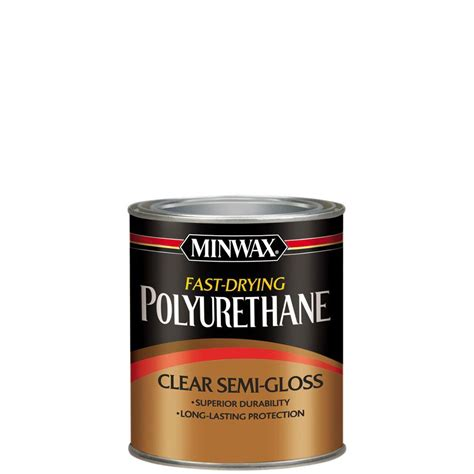 Clear Paint Pu X2 Clear minwax 1 qt semi gloss fast drying polyurethane 63005 the home depot