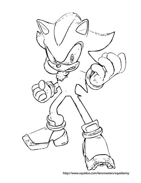 sonic the hedgehog coloring pages squid army