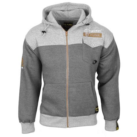 Sports Hooded Zip Top mens dl funk hoodies hooded sweatshirts zip up fleece