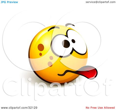 acting lethargic clipart illustration of an expressive yellow smiley emoticon sticking its tongue