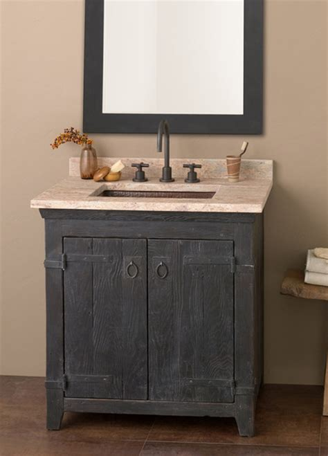 bathroom farm sink vanity trails 30 quot americana vanity in anvil farmhouse