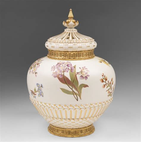 Potpourri Vase royal worcester potpourri vase liner and cover 1889 from