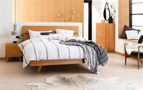 Miami Bed Frame Natural Bedroom Furniture Forty Winks | miami bedside table 2 drawer natural bedroom furniture