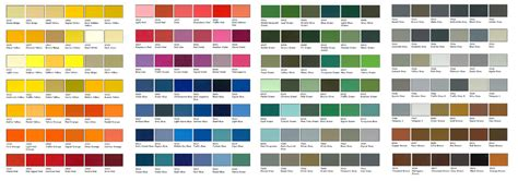 color panel cladding panels colours vulcan systems