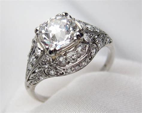 deco filigree engagement rings palladium filigree ring deco engagement ring