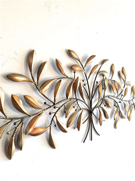 decorative metal wall hangings leaf wall gold metal wall gold decor leaf home