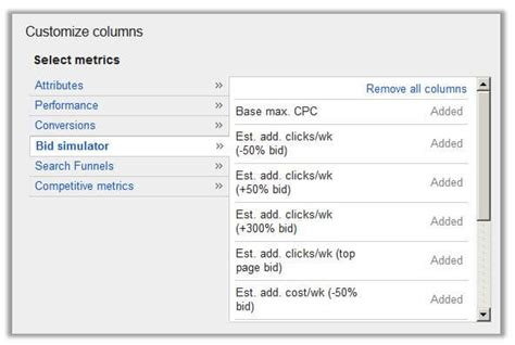 keyword bid 5 steps to leverage those adwords bid simulations for