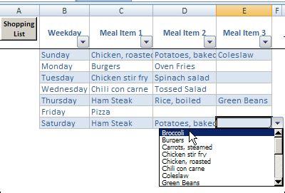 Meal Plan Template Excel Calendar Monthly Printable Weekly Meal Planner Template Excel