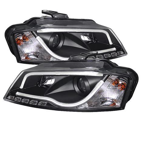 led len außen 09 12 audi a3 drl led rs5 style projector headlights black