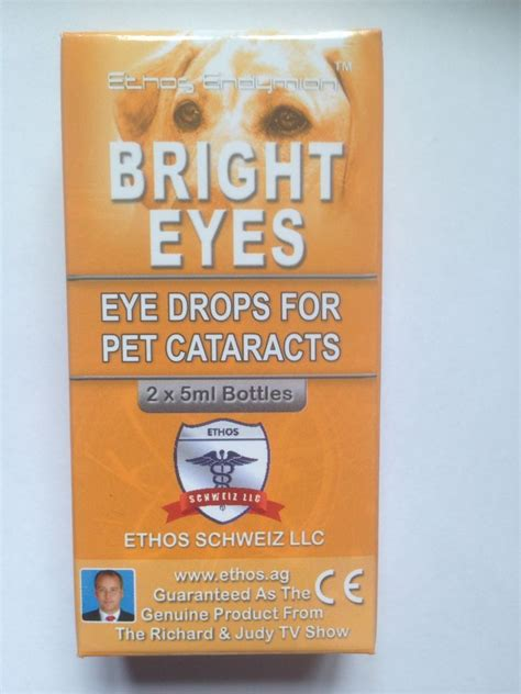 eye drops for dogs eye drops for dogs and pets with cataracts ethos bright 1 box 10ml ebay