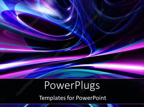 templates powerpoint crystalgraphics powerpoint template blue and purple lights in space