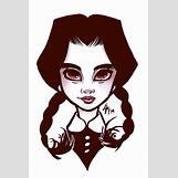 Wednesday Addams Drawing   600 x 897 jpeg 78kB