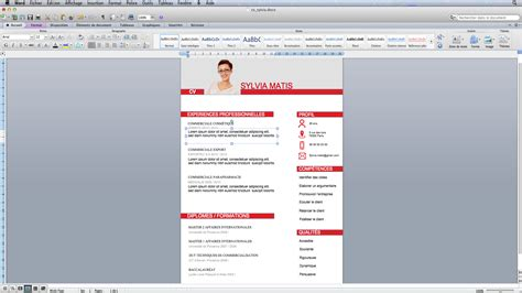 Model Cv Word Gratuit 2015 by Exemple De Cv Gratuit 2015 Modele De Cv Simple Francais