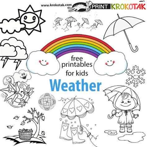 printable coloring pages weather krokotak weather coloring pages
