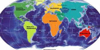 Labeled map of the world continents pictures 1