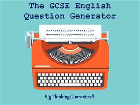 Or Question Generator The Gcse Question Generator By Mikegershon Uk Teaching Resources Tes