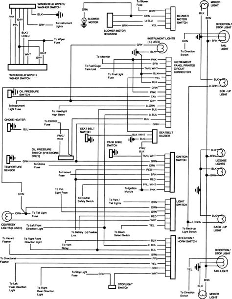 chevy truck wiring diagram  chevy  lights work   brake lights  stopped
