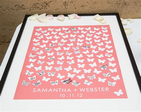 Wedding Guest Book Butterfly Design by Butterfly Wedding Guest Book Poster On Behance