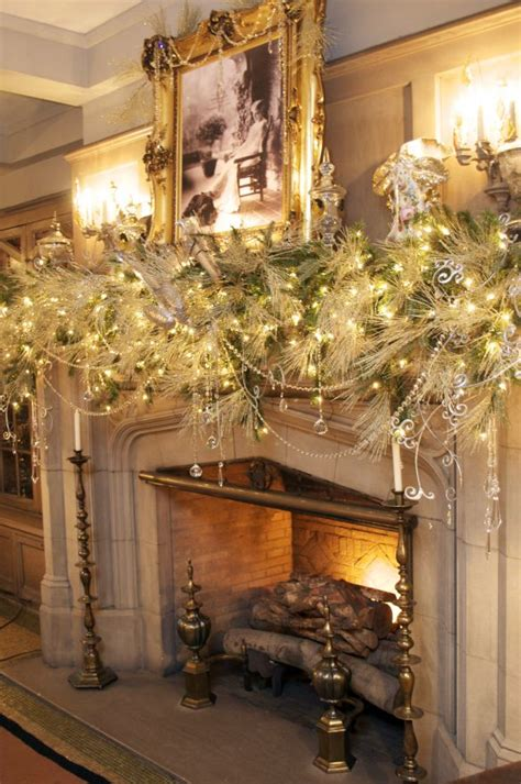 Fireplace Garlands by Winter White Mantle Garland