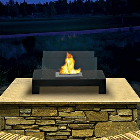 ethanol outdoor fireplace gramercy indoor outdoor bio ethanol fireplace 90296