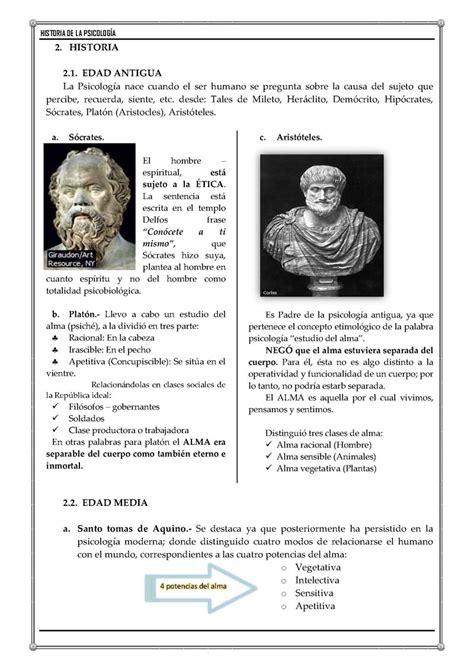 preguntas importantes para conocer a un hombre historia de la psicolog 237 a monografias
