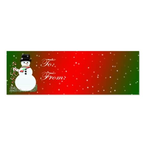 templates for business christmas cards snowman christmas tag card business card templates zazzle