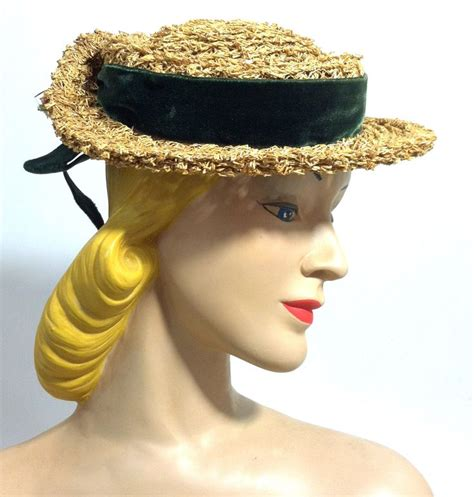 mini boater hat charming summery mini straw boater hat w yellow roses