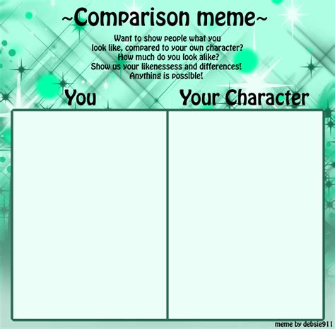 Template Memes - comparison meme template by debsie911 on deviantart