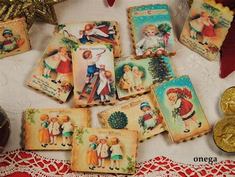 imagenes de navidad retro galletas navide 241 as con dibujos vintage magia en mi