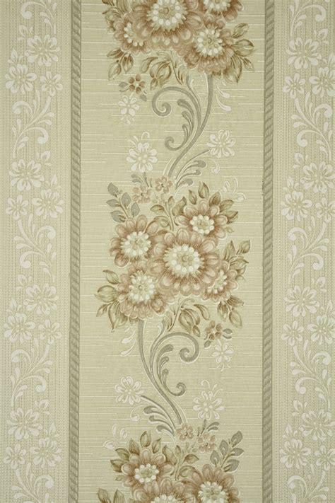 style floral stripe vintage wallpaper vintage