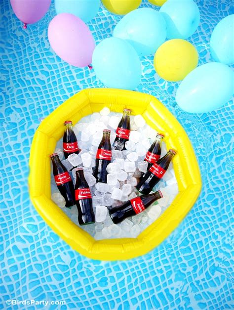 pool party decorations summer pool party ideas coke float station party ideas