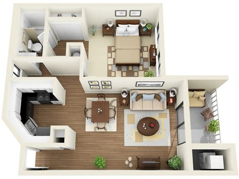 Simple 1 Bedroom Apartments In Simple 1 Bedroom House Plans House Plans 1 Bedroom